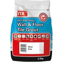 NX Anti-bacterial Ready mixed Silver grey Floor & wall Tile Grout 2.5kg
