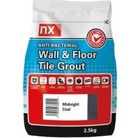 NX Anti-bacterial Ready mixed Midnight coal Floor & wall Tile Grout 2.5kg