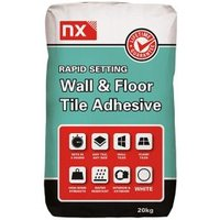 NX Rapid set Ready mixed White Floor & wall Tile Adhesive 20kg