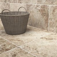 Illusion Brown Gloss Patterned Marble effect Ceramic Floor tile Pack of 10 (L)360mm (W)275mm