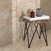 Illusion Mocha Gloss Marble effect Ceramic Floor tile Pack of 10 (L)360mm (W)275mm