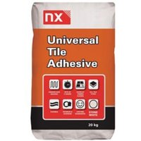 NX Universal Ready mixed Stone white Floor & wall Tile Powder Adhesive & grout 20kg