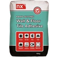 NX Rapid Ready mixed White Floor & wall Tile adhesive 10kg