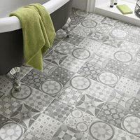 Lofthouse Grey Matt Plain Patchwork Stone effect Ceramic Floor tile (L)300mm (W)300mm