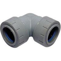 PolyPlumb Push-fit 90° Pipe elbow (Dia)28mm
