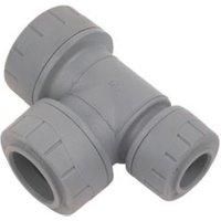 Polyplumb Push fit Reducing tee (Dia)22mm