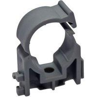 PolyPlumb Plastic Pipe clip PB2322V2 (Dia)22mm Pack of 10