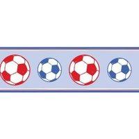 Fun4Walls Football Blue & Red Border