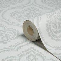 Fine décor Sparkle Soft grey Glitter Wallpaper