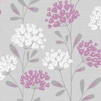 Fine Décor Ola Plum Floral Wallpaper