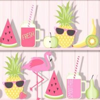 Fine Décor Pink Tropical Wallpaper