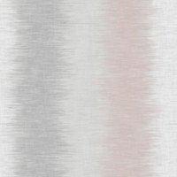 Fine Décor Aukland Grey & pink Striped Smooth Wallpaper