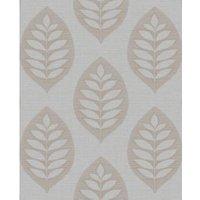 Fine Décor Ashbury Grey Floral Glitter effect Embossed Wallpaper