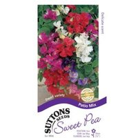 Suttons Sweet Pea Seeds  Patio Mix