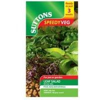 Suttons Speedy Veg Leaf Salad Seeds  Winter Mix