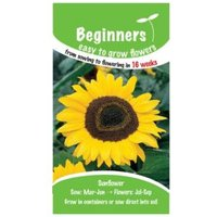 Suttons Beginners Sunflower Seeds  Giant Yellow Mix