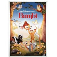 Bambi Multicolour Printed Canvas (W)350mm (H)500mm