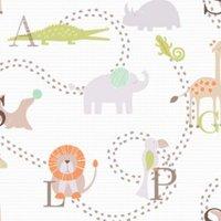 Animal Nursery Children's Wallpaper