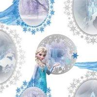Blue & Purple Disney Frozen Elsa Mica Effect Wallpaper.