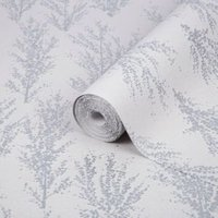 Superfresco Easy Katsura Silver Trees Glitter effect Wallpaper
