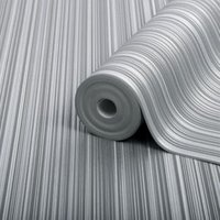 Boutique Palma Ice Striped Metallic effect Embossed Wallpaper