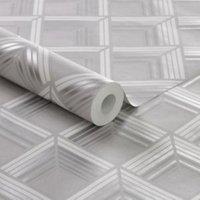 Boutique Geometric Metallic Wallpaper