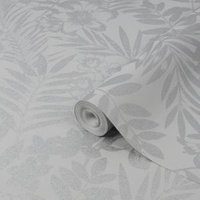 Boutique Alice Leaf Metallic effect Embossed Wallpaper