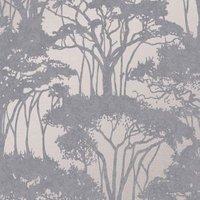 Superfresco Easy Grey Floral Textured Wallpaper