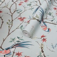 Graham & Brown Boutique Mint Floral Metallic effect Smooth Wallpaper