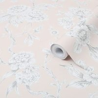 Graham & Brown Boutique Pink Meadow Metallic effect Smooth Wallpaper