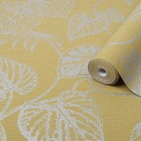Graham & Brown Boutique Ochre Betel Metallic effect Textured Wallpaper