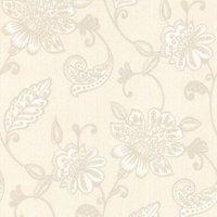 Graham & Brown Juliet White Floral Wallpaper
