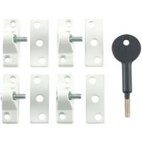 Yale White White Window Lock  Pack of 4