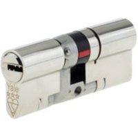 Yale 80mm Nickel plated Brass Euro cylinder lock