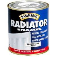 Hammerite Enamel White Satin Radiator Paint 500 ml