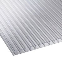 Clear Multiwall Polycarbonate Roofing Sheet 2.4M x 700mm  Pack of 5