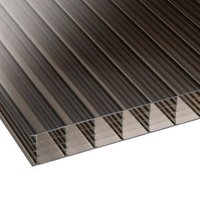 Bronze Multiwall Polycarbonate Roofing Sheet 4M x 980mm  Pack of 5