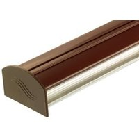 Corotherm Brown Glazing Bar Cap and Base  (H)50mm (W)50mm (L)4000mm