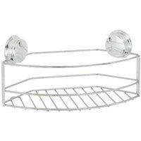 Croydex Stick 'n' Lock Plus Chrome effect Mild steel Storage basket