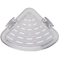 Croydex PressnLock Plastic Single corner storage basket