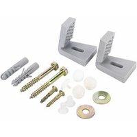 Fischer Silver Nylon & steel Bidet & toilet fixing kit.