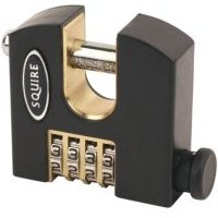 Squire Stronghold Brass 4 Wheel Padlock (W)65mm