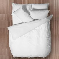 Chartwell Easy Care Plain White King Size Bed Cover Set