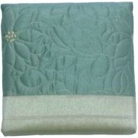 Chartwell Amy Duck Egg Floral Quilted Bed Runner