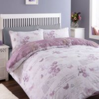 Chartwell Lilian Butterfly Wisteria King Size Bed Cover Set