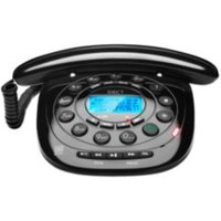 Idect Carrera Classic Black Corded Telephone with Answering Machine - Single Handset