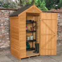 4x3 Forest Apex Overlap Wooden Shed