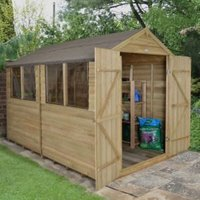 10X8 Forest Reverse Apex Overlap Wooden Shed