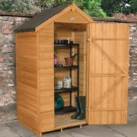 4x3 Forest Apex Overlap Wooden Shed With assembly service