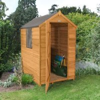 6X4 Apex Overlap Wooden Shed with Assembly Service